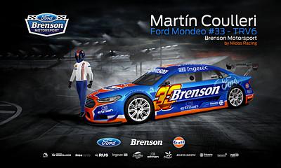 area75 diseña el Ford Mondeo TRV6 Brenson Motorsport / Midas Racing de Martín Coulleri