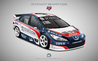 area75 diseña los Peugeot 408 de Super TC2000 y TC2000 del FE Peugeot Junior Équipe
