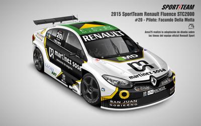 area75 diseña los Renault Fluence SportTeam de Super TC2000 2015