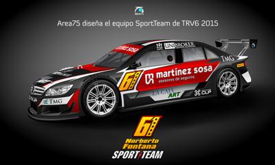 area75 diseña los Mercedes Benz y Ford Mondeo TRV6 del equipo SportTeam 2015