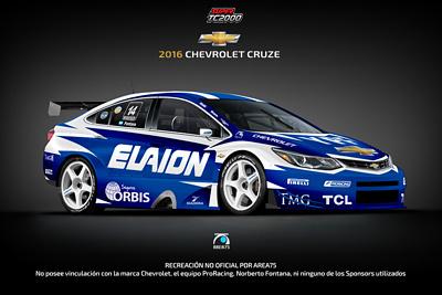 2016 Chevrolet New Cruze Super TC2000: Recreación