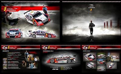 Lucas Guerra: Ilustraciones y Brochure Top Race Series